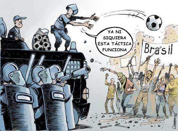 Brasil protesto estádio copa futebol