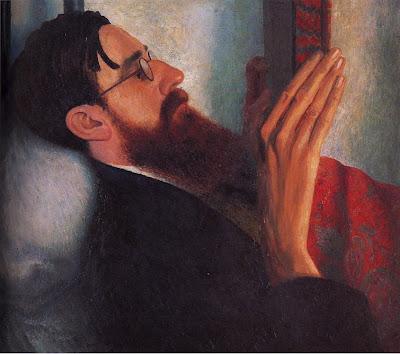 Dora Carrington [ Portrait of Lytton Strachey ] 1916