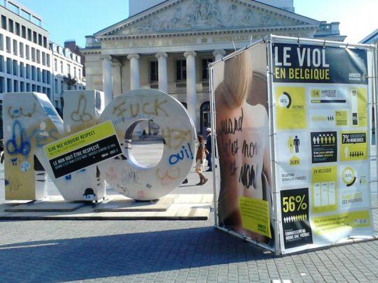 "Campaña ""Quand c'est non, c'est non"", Amnistía Internacional (Bruselas). Foto: Encarni Barrionuevo Sánchez"