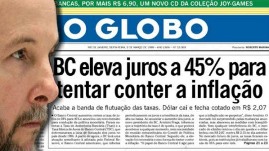 Armínio Fraga presidente do Banco Central do governo Fernando Henrique. Já indicado, por Aécio Neves, para ministro da Economia
