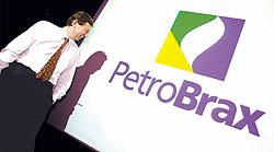 O presidente da Petrobras, Philippe Reischtul, em frente ao novo logotipo da empresa. Foto: Nelson Perez/ Valor