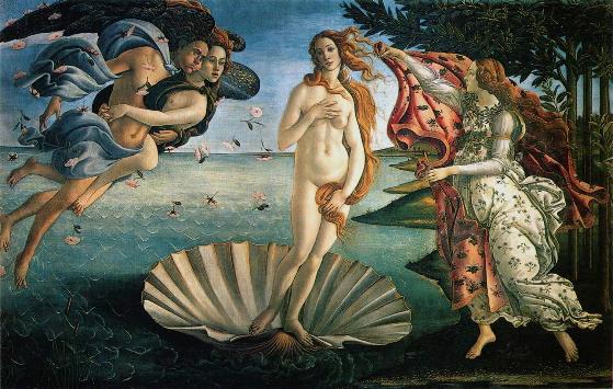 O Nascimento de Vênus, por Sandro Botticelli