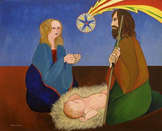 Natividade, 1969, óleo sobre tela, de  Aldemir Martins (1922-2006)