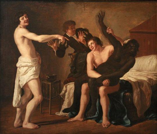 estupro pintura Christiaen van Couwenbergh