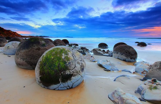 8 – Moeraki Boulders (Ovos de dragões), Koekohe Beach, Nova Zelândia  2