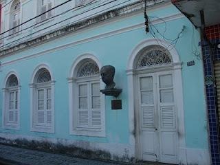 Rua da União, n º 263, Recife. Casa do avô de Manuel Bandeira, onde o poeta passou a infância