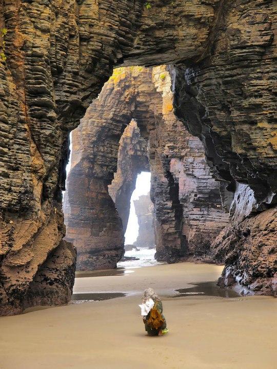 Esses arcos foram formados pelo contato com a água durante milhares de anos.