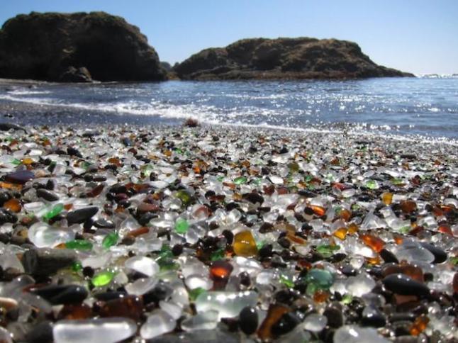 praia do vidro, califórnia