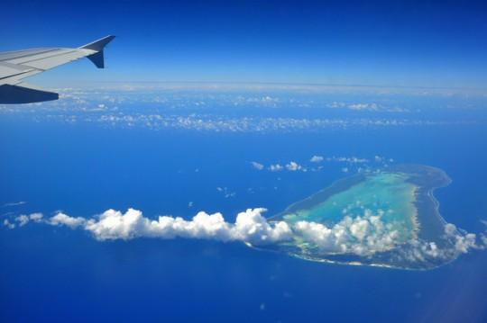 Atolón de Aldabara, Seychelles. Consta de cuatro islotes alrededor de una gran laguna