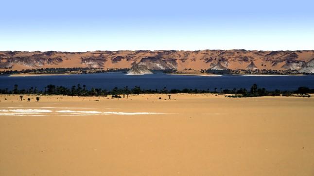 Los Lagos de Unianga, Chad. Abarca 18 lagos interconectados en pleno desierto del Sahara