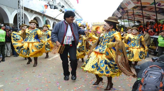 O presidente Evo Morales