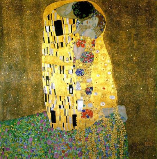 """Quadro """"Der Kuss"""" (O Beijo), de Gustav Klimt, feito entre 1907-1908."""
