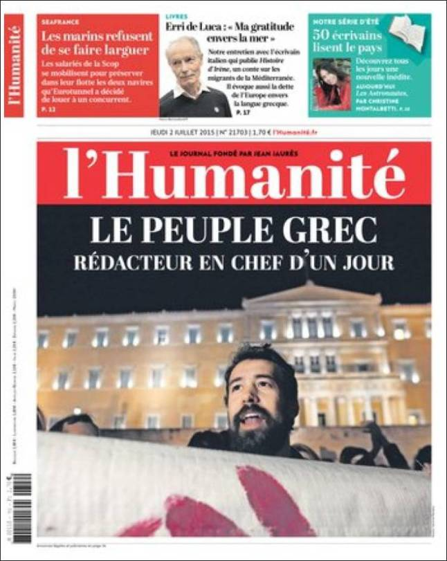 humanite. 2 julho 2015