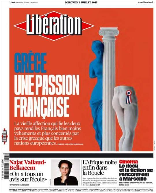 liberation. grécia paixão francesa