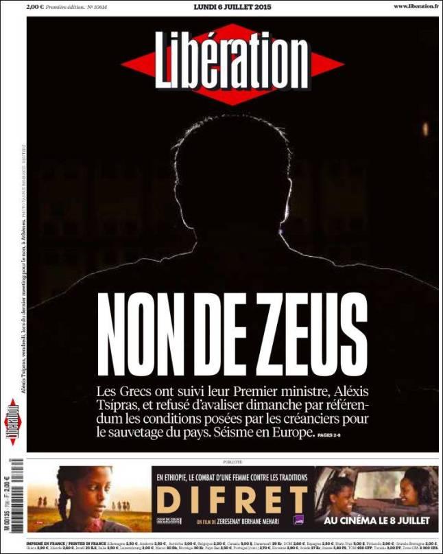 liberation. mon de zeus grécia