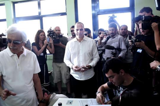 O ministro das Finanças grego Yanis Varoufakis na votação do referendo em Atenas, GréciaAFP / ANGELOS TZORTZINIS