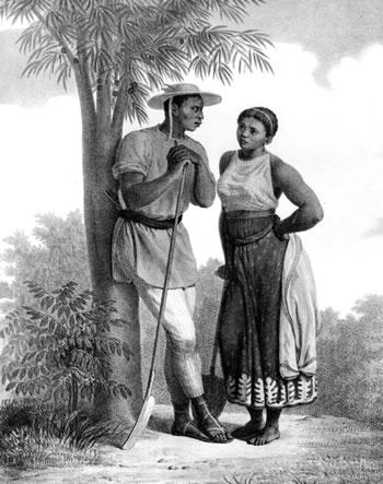 J. M. Rugendas, Escravos numa fazenda