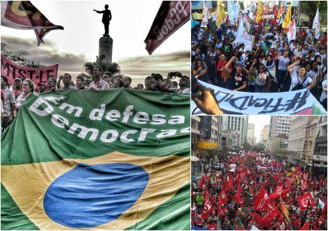 Movimentos sociais e sindicais, forças políticas progressistas ocuparam às ruas no dia 20 de agosto em todo o país.