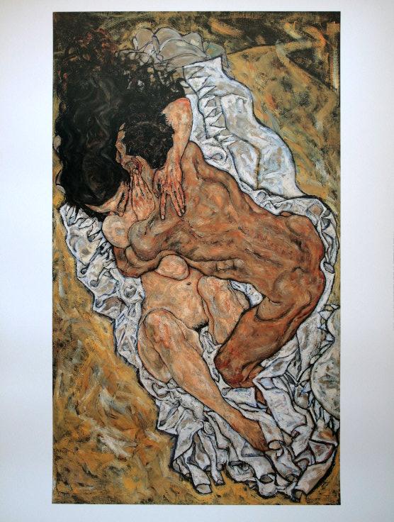 Egon Schiele, El abrazo.
