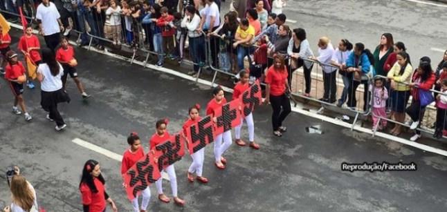 suastica-taboao-da-serra- desfile nazista