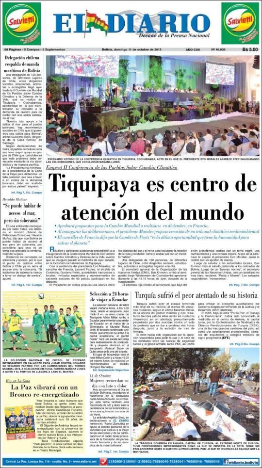 bo_eldiario. mudança do clima meio ambiente conferencia mundial bolívia