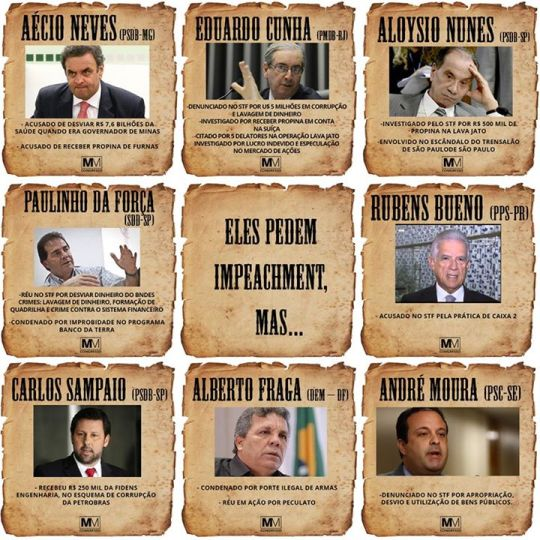 corruptos pedem impeachment