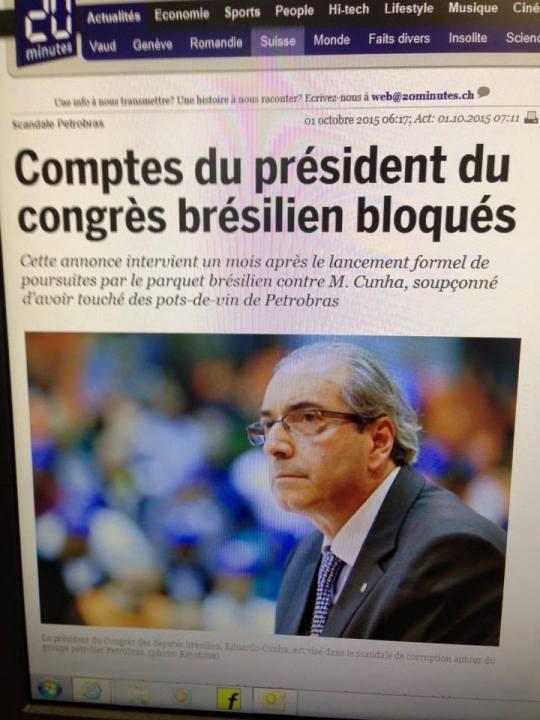 Cunha imprensa