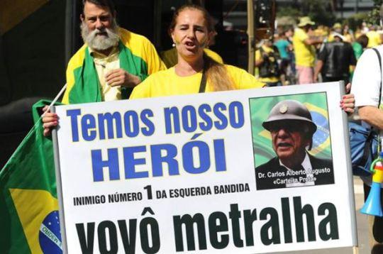 Vovô Metralha ex-delegado do DOI-Codi, assassino e torturador