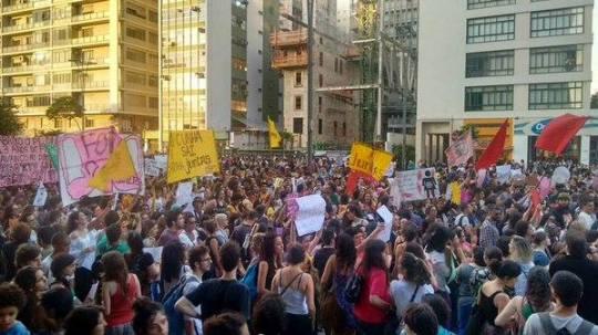 mulheres contra cunha passeata 1